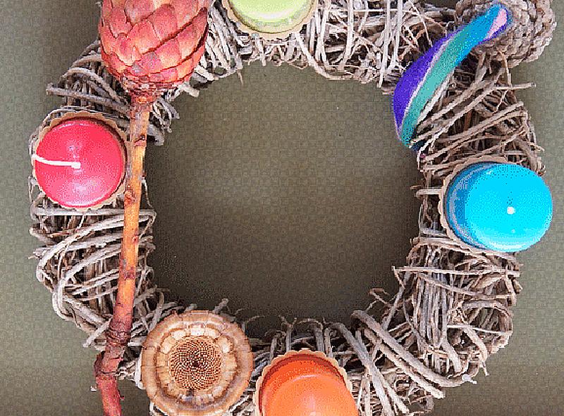 adventskranz in vier farben kreativ. Black Bedroom Furniture Sets. Home Design Ideas